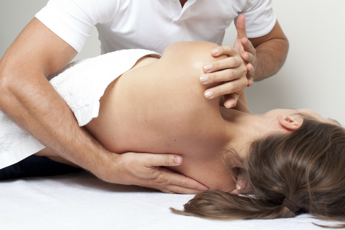 Woman receiving Osteopathic Treatment